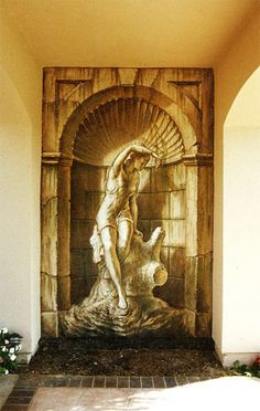....trompe l' oeil: Truly a beautiful mural, this could be re-created for you by Deco Haven Artistry, Murals & Decorative Painting. Please check out our page on Face Book, would love to see you there!!!