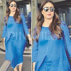 Unseen - Kareena got clicked wearing an post the b blunt event few weeks ago. Styled by Stylish Maternity, Maternity Fashion, Maternity Dresses, Indian Maternity Wear, Dresses For Pregnant Women, Bollywood Dress, Pregnancy Outfits, Pregnancy Style, Kurta Designs Women