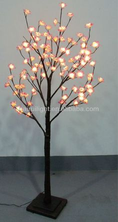 96L warm LED  tree light with pink cherry blossom