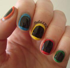 Nailed It NZ: Nail art for short nails #2: Guitar Hero Nails http://nailedit1.blogspot.co.nz/2012/11/nail-art-for-short-nails-2-guitar-hero.html