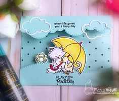THERM-O-WEB & NEWTON'S NOOK INSPIRATION WEEK | play in the puddles | MARIA RUSSELL