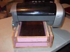 this instructable is for making a t-shirt printer from a canon you can also print on wood like is shown on the video link, is the same concept. T Shirt Printer, Wooden Projects, Diy Projects, Old Shirts, Inkjet Printer, T Shirt Diy, Wood Print, Easy Diy, Video Link
