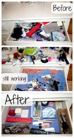 Organizing My Bathroom Drawer-get tips on how to declutter, clean & organize bathroom drawers to keep them from getting overly cluttered and out of control.
