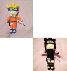 Naruto Inspired Crochet Naruto Uzumaki  & by MoonlitShopPatterns