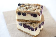 These look yummy!  Blueberry Lemon Cheesecake Bars