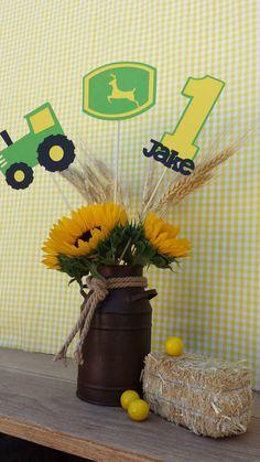 John Deere Tractor Farm Centerpiece Green Tractor 2 by EMTsweeetie, $15.00