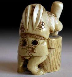 netsuke moon rabbit bunny cakes