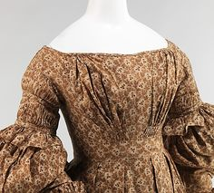 1837 interesting sleeve detail.. and bodice detail... nice vining fabric