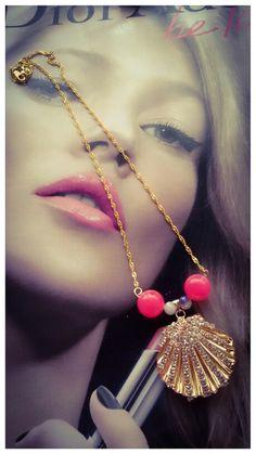 Collar largo...oro golfie y piedras semi-preciosas....producto exclusivo RIOS URBANOS