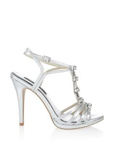 5478f1c7a34 Womens Metallic Gem Strappy Heel by White House Black Market from White  House