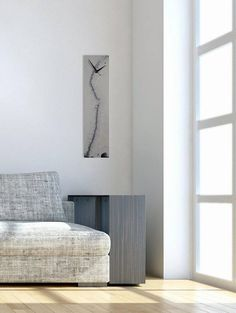 White and Silver Home Decor Wall Sculpture Glass Art Glass Clock Wall Art Wall Hanging Contemporary & Unique wall clock Lilac Decor Unique clocks Unusual wall art ...