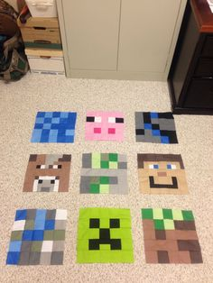 Looking for quilting project inspiration? Check out Minecraft Quilt :) by member Mrs Hesel. There is no pattern though :( Minecraft Quilt, Minecraft Crochet, Minecraft Crafts, Minecraft Party, Minecraft Projects, Minecraft Bedroom, Minecraft Blanket, Minecraft Beads, Minecraft Stuff