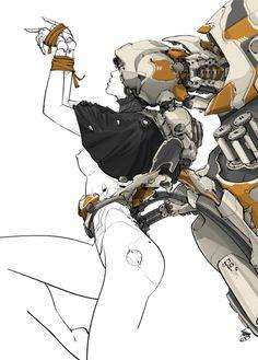 Superb Digital Cyberpunk Illustrations By Mikołaj Piszczako – Design You TrustDesign You Trust Character Concept, Character Art, Concept Art, Character Creation, Robot Design, Design Art, Character Illustration, Illustration Art, Science Fiction