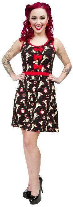 SOURPUSS DERBY DARLIN DRESS RED  Sourpuss has a dress for you ...