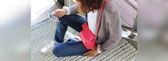 Pochette bandoulière en cuir rose fuchsia Ripauste Cuir Rose, Fuchsia, Tote Bag, Bags, Fashion, Outfit, La Mode, Handbags, Moda