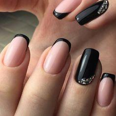 French Nails selber machen elegantes Design in Schwarz und Rosa