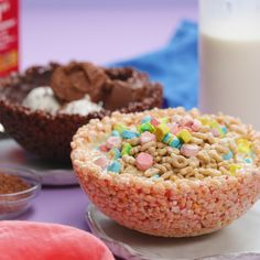 Cereal Cereal Bowls is part of Keto desserts Recipes Cups - Cereal is the unsung hero of the culinary world Now you can eat your bowl of cereal in more ways than one Yummy Treats, Delicious Desserts, Yummy Food, Tasty, Baking Recipes, Dessert Recipes, Cookie Recipes, Cereal Recipes, Dessert Ideas