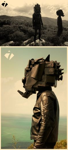 nuno cintrao's recycled robots and masks.