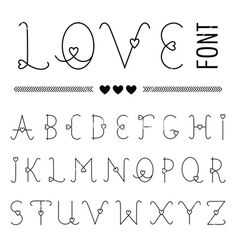 Hand drawn love font - valentines set with hearts vector- by on Vect. - Hand drawn love font – valentines set with hearts vector- by on Vect… – Hand dra - Calligraphy Fonts Alphabet, Hand Lettering Alphabet, Doodle Lettering, Creative Lettering, Lettering Styles, Handwriting Fonts, Pretty Fonts Alphabet, Doodle Alphabet, Doodle Fonts