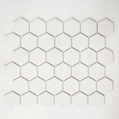 MOSAIK HEXAGON VIT MATT 5.1X5.9CM PRIS PER ARK - Kakel, Klinker & Mosaik Se Hela Sortimentet - Kakel & Klinker - Golv & Kakel