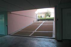 L'accesso ai garage degli appartamenti di Borgo Castelliere