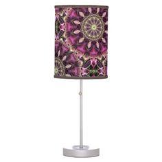 Tropical Flowers mandala pattern Desk Lamps $44.95