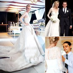 In love with Caroline Trentini wedding dress by Olivier Theyskens