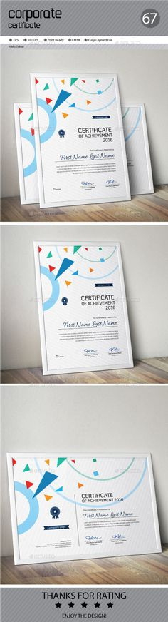 12 best certificate of appreciation images on Pinterest     Buy Certificate by ConceptFactory on GraphicRiver  Certificate is  especially for Corporate or Professional use  Landscape and Portrait  version