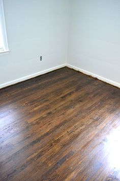 Dark Walnut - Refinishing floors + water popping tips