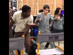 The Maze Runner Cast dancing . Just like a Dylan and his sexual dancing ufff ♥