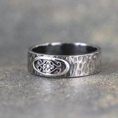 Rustikale Hochzeitsband Herren oder Damen Ehering von ASecondTime