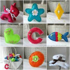 Cool DIY Gift For Kids – Basket Of Handmade Soft Felt Toys | Shelterness