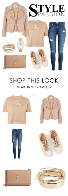 """""""Style Passion"""" by edyta-murselovic ❤ liked on Polyvore featuring Calvin Klein, River Island, Yves Saint Laurent, Valentino and CLUSE"""