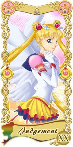 Pretty Guardian Sailor Moon Original Tarot Cards: XX - Judgement | by Ryukia @ Pixiv.net // #sailormoon