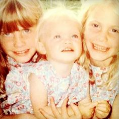 Chloe, Cara and Poppy Delevingne in childhood