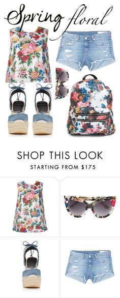 """""""Spring Floral"""" by pisces7 ❤ liked on Polyvore featuring Emilia Wickstead, Linda Farrow, Yves Saint Laurent, rag & bone/JEAN, floralprint and SpringStyle"""