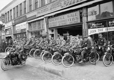 Motorcycles.