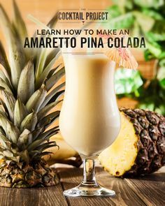 Go a little nutty with the DeKuyper® Amaretto Pina Colada recipe on TheCocktailProject.com. Creamy, sweet and oh-so delicious, this cocktail takes Cruzan® Aged Light Rum, combines it with the flavors of Amaretto and coconut milk, and tops it off with fresh pineapple Juice for a taste of the tropics that's sure to be a hit. Enjoy them at pool parties, backyard barbecues or while relaxing in the sun.
