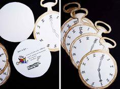 Alice in Wonderland invitation inspiration.