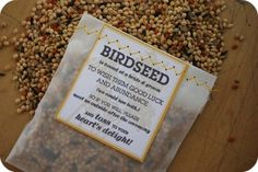 Birdseed toss instead of rice - Hill City Bride