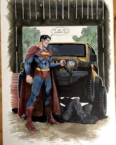 by Brent Peeples Mundo Superman, Superman News, Superman Family, My Superman, Superman Stuff, Batman, Superman Artwork, Comic Books Art, Comic Art