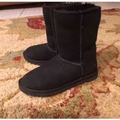 Black ugg boots Wore these boots a few times. In great shape. Still have the box! UGG Shoes Ankle Boots & Booties