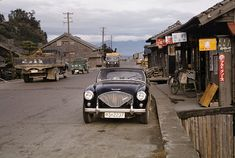 nemoi memo Austin-Healey in Japan, 1956 japan Old Pictures, Old Photos, Vintage Photos, Automobile, Asian Design, Austin Healey, Japanese Streets, Historical Architecture, Vintage Japanese