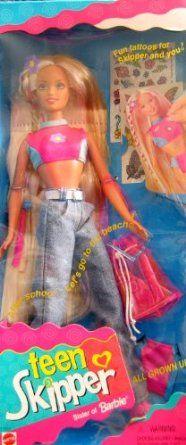 Amazon.com: Barbie TEEN SKIPPER Doll All Grown Up! (1996): Toys & Games    loving this trip down memory lane!!