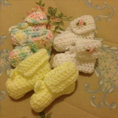 My crotchet booties..