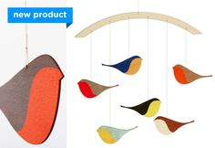 eco-friendly wooden bird baby mobile - e-glue store