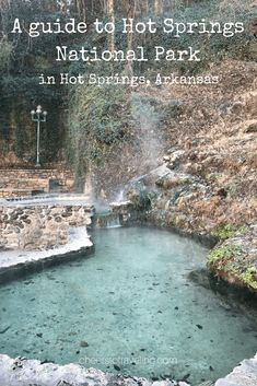 Located in Arkansas, USA, Hot Springs National Park is the smallest national park in the United States. It includes 5,500 acres to explore, including hiking trails, hot springs, historic buildings, an observation tower, museum, and even a brewery.