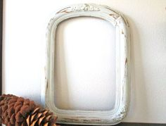 #Antique #Wood #Frame Wall Hanging Painted White by ElmPlace on Etsy, $90.00