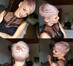Today cut my hair a bit. A but perfect as always. Pixie Bob Hairstyles, Short Pixie Haircuts, Older Women Hairstyles, Cool Haircuts, Short Hair Cuts, Cool Hairstyles, Short Hair Styles, Cut My Hair, Hair A