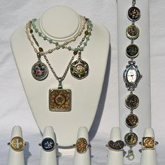 Exclusively in San Diego County, Silver Crossing has a beautiful line of jewelry made with buttons from the Victorian and Eduardian eras of 1880 - 1910.